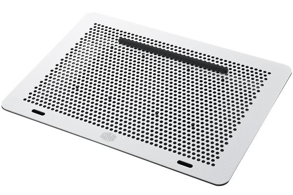 "Coolermaster Master NotePal Notebookcooler. Up to 17"" laptops. Aluminum Surface, 80mm Fans x 2."