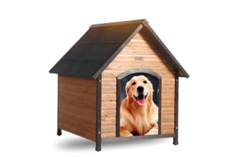 PaWz Dog Kennel Puppy Kennels Pet Wooden House Timber Outdoor Garden Extra Large  -  L