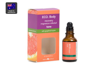 ECO. Tone Magnesium Roller Ball with Grapefruit & Pine Essential Oil (25ml)