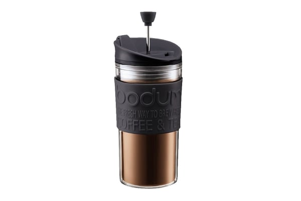Bodum Travel Press Set Coffee Maker with Extra Lid - 0.35 L, 12 oz (K11102-01)
