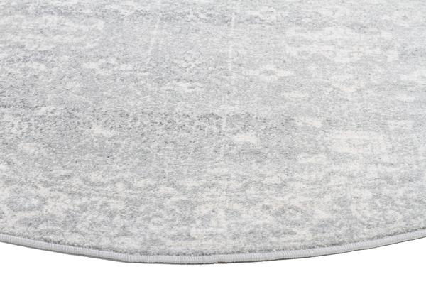 Shine Silver Transitional Rug 150x150cm