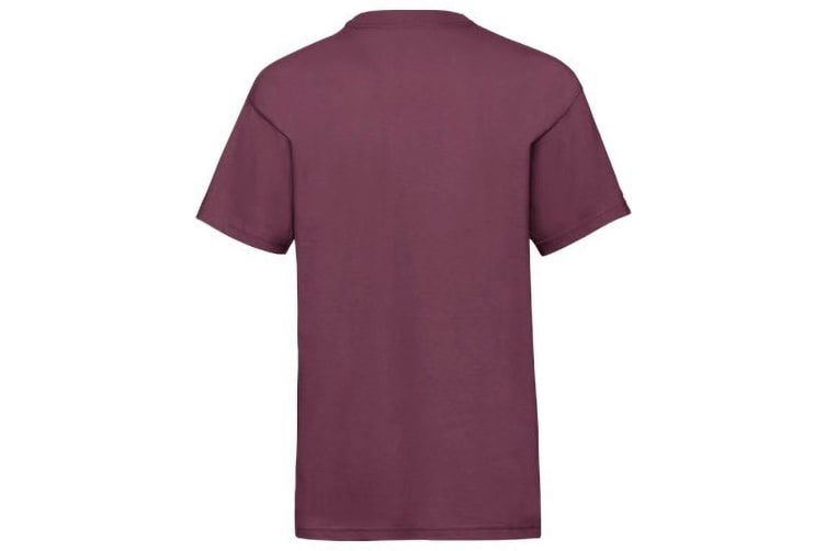Fruit Of The Loom Childrens/Kids Unisex Valueweight Short Sleeve T-Shirt (Pack of 2) (Burgundy) (14-15)