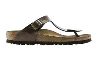 Birkenstock Women's Gizeh Birko-Flor Narrow-Fit Sandal (Graceful Toffee, Size 36 EU)