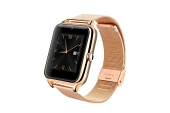 """TODO Bluetooth V3.0 Smart Watch 1.54"""" Tft Lcd Rechargeable Anti Lost Call - Gold"""