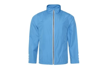 AWDis Just Cool Adults Unisex Showerproof Running Jacket (Sapphire Blue) (L)