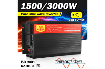ATEM POWER Pure Sine Wave Inverter 1500W Max 3000W Power 12V- 240V Car Caravan Camping Boat