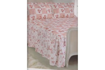 E Of W Colorado Diamond Quilted Floral Bedspread With Pillowshams Bedding Set (Colorado)