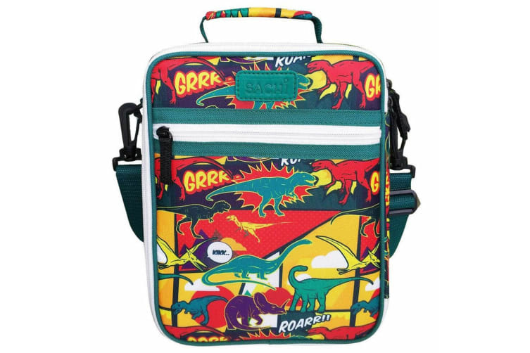 Sachi Thermal Insulated Junior Picnic Lunch Box Tote Carry Storage Bag Dinosaurs