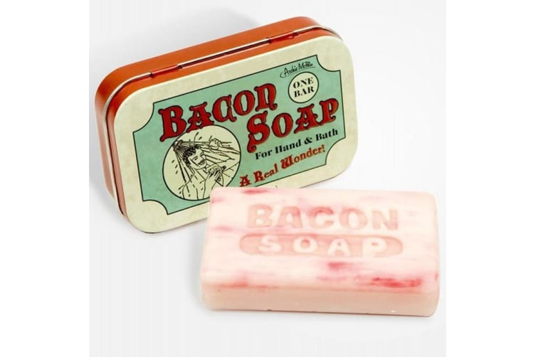Bacon Scented Soap - Cleaning Bar Bath Funny Quirky Gift Novelty Meat Pork