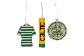 Celtic FC Air Fresheners (Pack Of 3) (Green) (One Size)