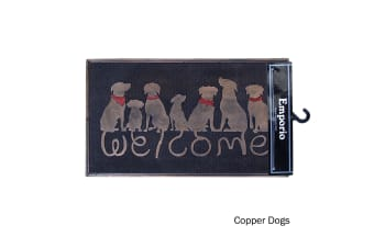 Rubber Door Mat Copper Dogs