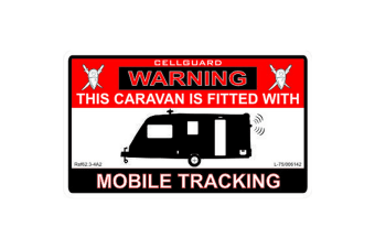 W4 Security Tracking Fitted Caravan Sticker (Red/White/Black)