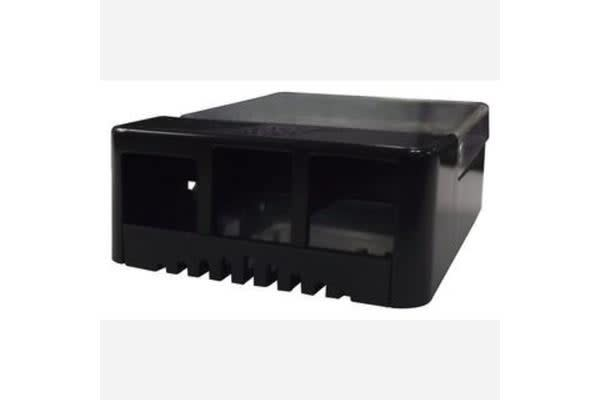 Raspberry Pi Case - Dev Board Enclosure, Pi Hat, Black / Transparent