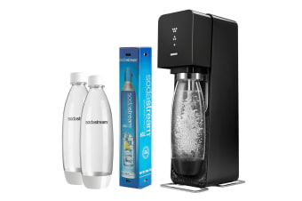 SodaStream Value Pack Source Element Soft Fizzy Bubble Soda Drinks Maker Black