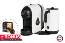 Lavazza Minu Caffe Latte Coffee Capsule Machine with Milk Frother