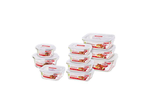 Lock & Lock Oven Glass Containers 10pc  Set
