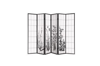 Levede 6 Panel Room Divider Privacy Screen Wood Timber Bed Wider Foldable Stand