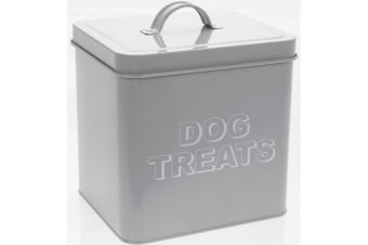 Dog Treats Storage Tin (Grey) (One Size)