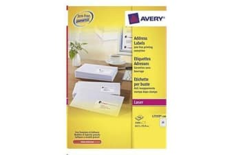 AVERY L7159-100 Addressing Labels Pop Up Quick Peel - 64x  33.8mm - 100 Sheets