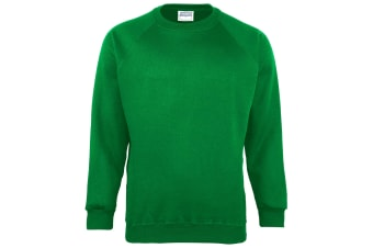 Maddins Kids Unisex Coloursure Crew Neck Sweatshirt / Schoolwear (Emerald) (24)