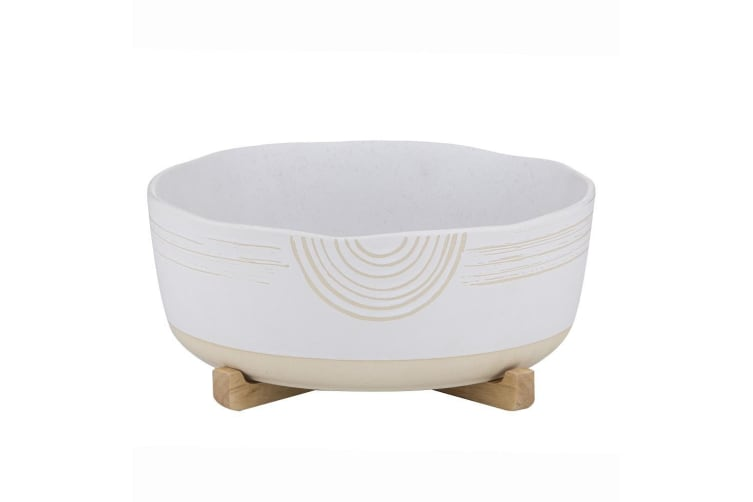 Davis & Waddell Mojave Serving Bowl on Stand 27x27x10cm