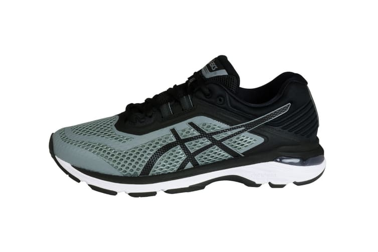 ASICS Men's GT-2000 6 Running Shoe (Stone Grey/Black/White, Size 8)