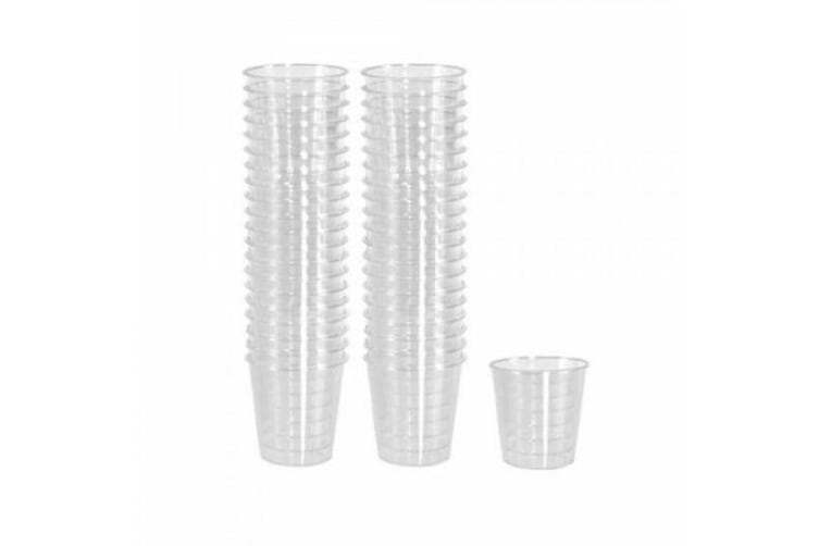90 BPA Free Clear Plastic Party Shot Cups Mini Cup Glass Reusable 40ml