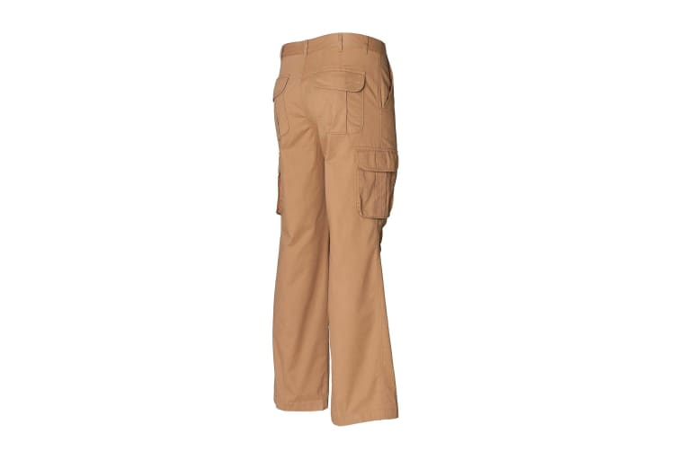 Skinni Fit Mens Cargo Trousers (Sand) (34)