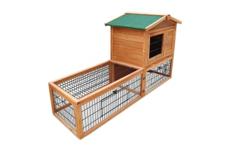 Double Storey Pet Hutch with Under Run (Green)