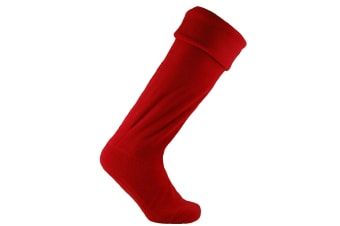 Horizon Unisex Fleece Wellie Liner Sock (Red)