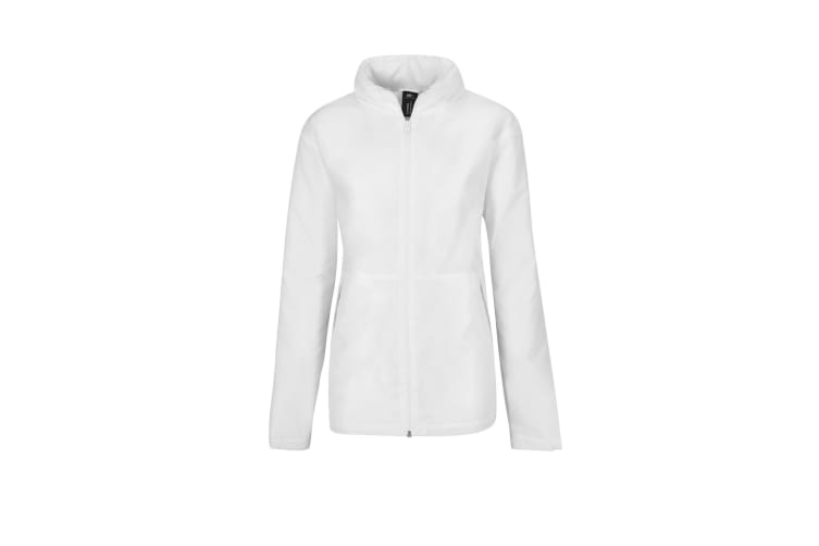 B&C Womens/Ladies Multi Active Hooded Jacket (White/ White) (XS)