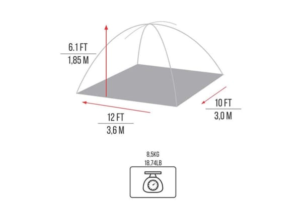NTK Cherokee GT 8/9 Person Tent