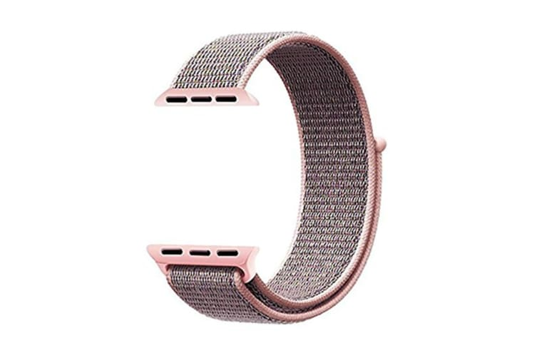 Smart Watch Band, Nylon Sport Loop Wrist Strap Replacment Band For Iwatch Series 1 /2 / 3 Pink Sand 42Mm