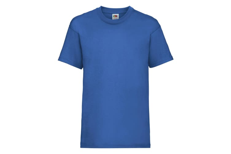 Fruit Of The Loom Childrens/Kids Unisex Valueweight Short Sleeve T-Shirt (Pack of 2) (Royal) (5-6)