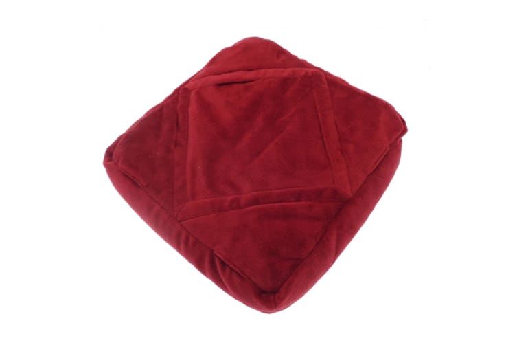 Home & Living 3-in-1 Luxury Travel Pillow (Wine) (One Size)