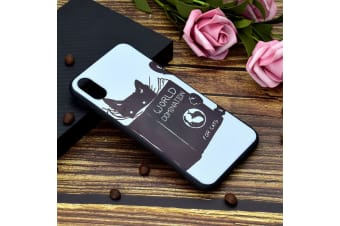 For iPhone XS Max Cover Thin Protective Back Shell Mobile Phone Case Black Cat