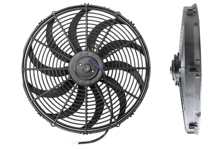 "Aeroflow 16"" Curved Blade Electric Fan Reversible 2000Cfm"