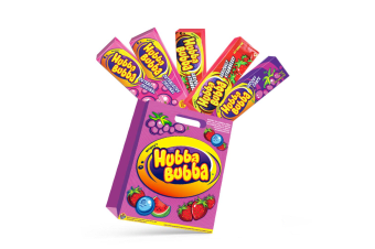 5pc Hubba Bubba Kids Showbag w/Original/Strawberry/Grapes Lollies