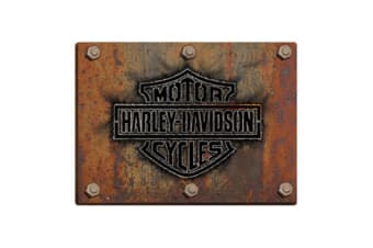Harley Davidson Die Cut Embossed Tin Sign - Made Plate