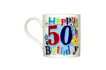 Simon Elvin Happy 50th Birthday Female Milestone Mug (Multicoloured)