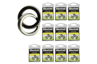 10 x Packets of Size 7 Mustad Stainless Steel Jigging Rings For Fishing Lures