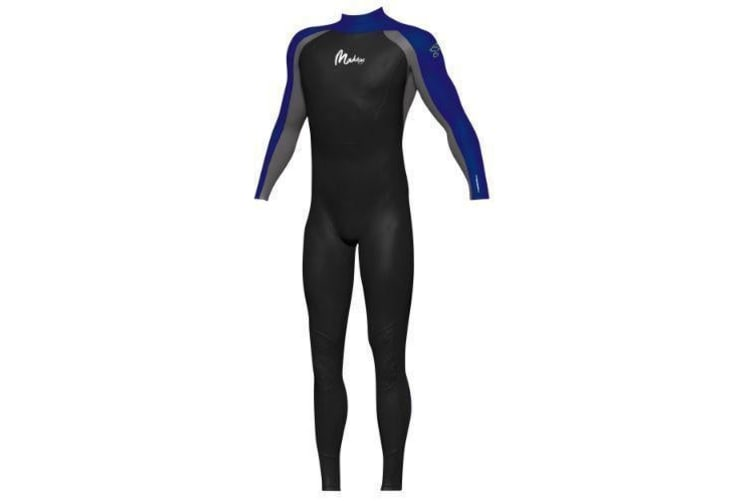 Maddog Men's Superstretch Steamer 3/2mm Wetsuits - (Black/Blue) X-Large