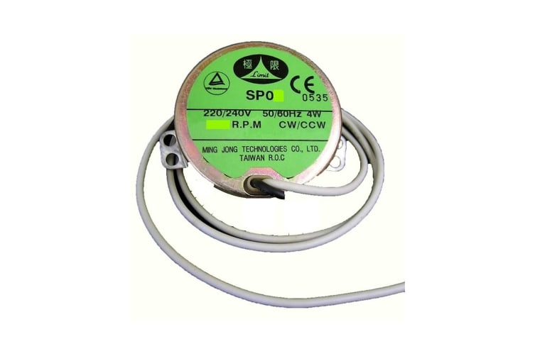 Replacement Fishing Rod Dryer Motor - 7.5/9 RPM Rod Drying Motor