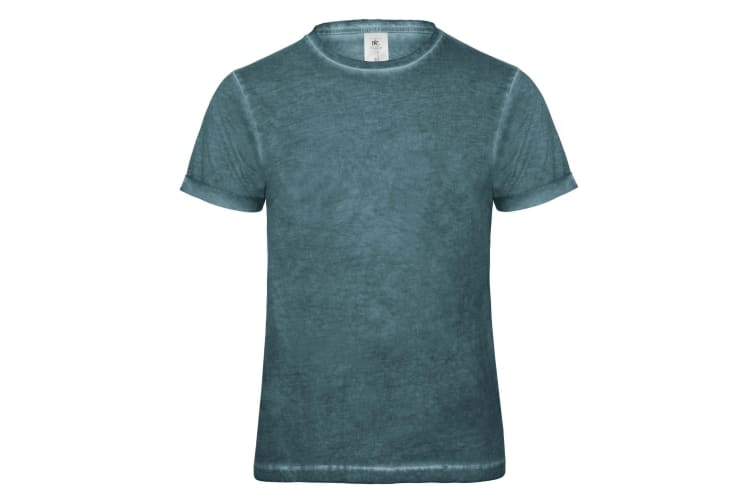 B&C Denim Mens Plug In Short Sleeve T-Shirt (Green Clash) (S)