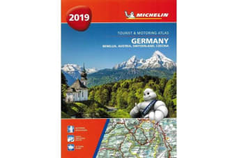 Germany, Benelux, Austria, Switzerland, Czech Republic 2019 - Tourist and Motoring Atlas (A4-Spirale) - Tourist & Motoring Atlas A4 spiral