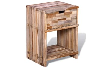 vidaXL Nightstand with Drawer Reclaimed Teak Wood