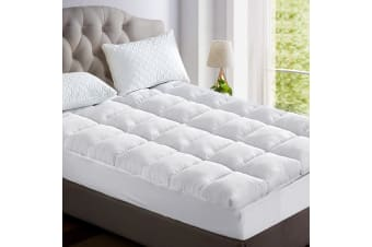 Giselle Single Mattress Topper Bamboo Fibre Pillowtop Protector