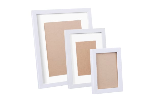 17 Piece Photo Frames Set Wall (White)