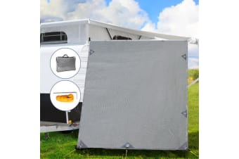 Pop Top Caravan Privacy Screen Sun Shade End Wall Roll Out Awning Side