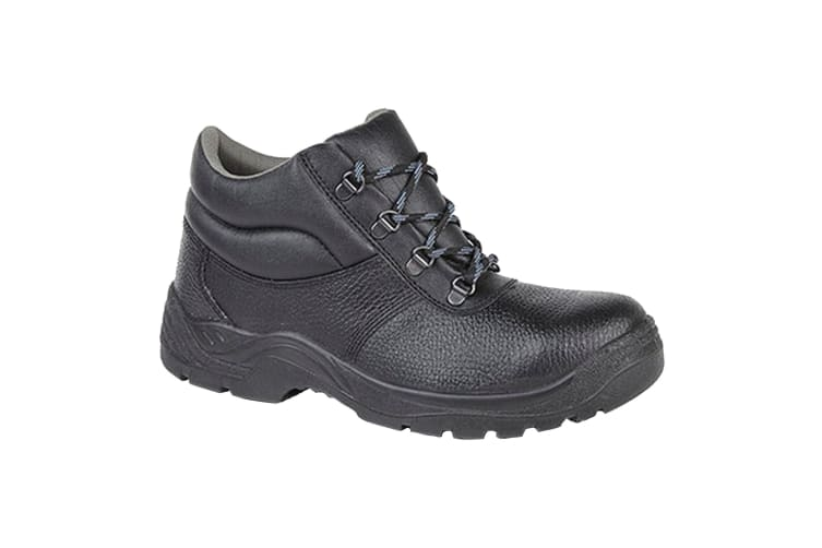 Grafters Mens Padded Collar D-Ring Chukka Safety Boots (Black) (9 UK)
